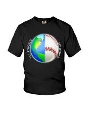 Baseball Your World My World Youth T-Shirt thumbnail