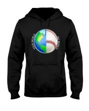 Baseball Your World My World Hooded Sweatshirt thumbnail