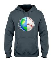 Baseball Your World My World Hooded Sweatshirt front