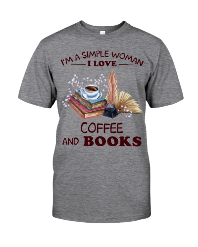 Books Coffee I'm A Simple Woman
