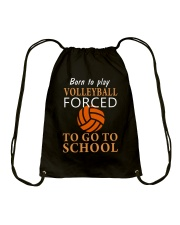 Born To Play By Volleyball Drawstring Bag thumbnail