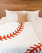 "Baseball Stiches Large Fleece Blanket - 60"" x 80"" aos-coral-fleece-blanket-60x80-lifestyle-front-02"