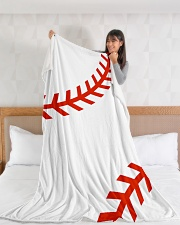 "Baseball Stiches Large Fleece Blanket - 60"" x 80"" aos-coral-fleece-blanket-60x80-lifestyle-front-11"