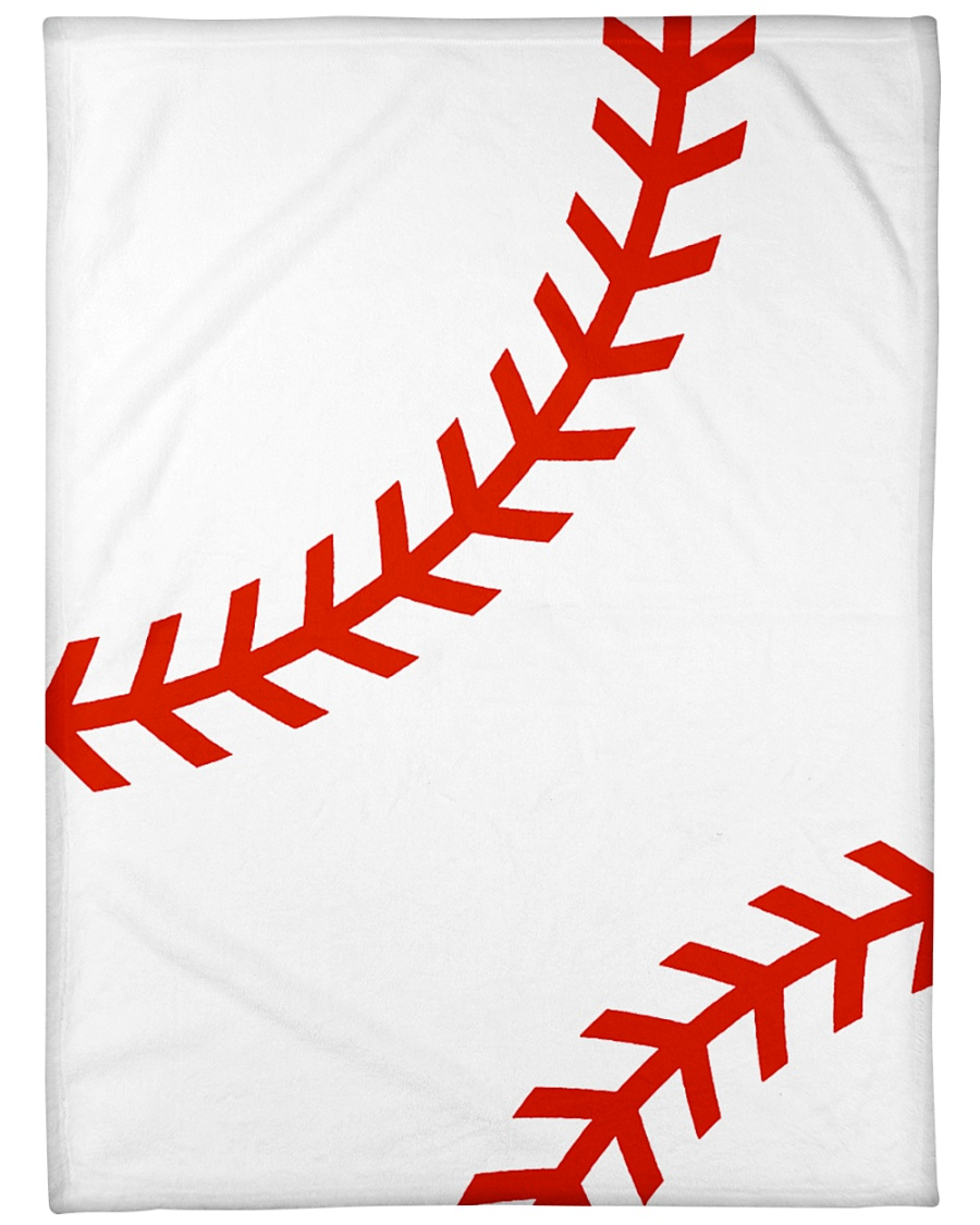 "Baseball Stiches Large Fleece Blanket - 60"" x 80"""