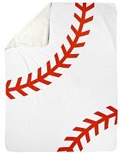Baseball Stiches Sherpa Fleece Blanket tile