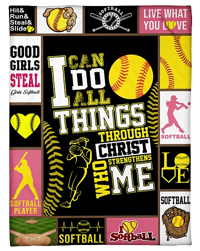 Softball Funny I Can Do All Things Graphic Design