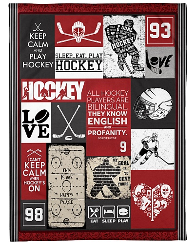 Hockey Funny Keep Calm And Play Graphic Design
