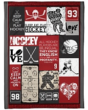 """Hockey Funny Keep Calm And Play Graphic Design Large Fleece Blanket - 60"""" x 80"""" front"""