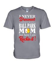 I'M A BALLPARK MOM V-Neck T-Shirt thumbnail