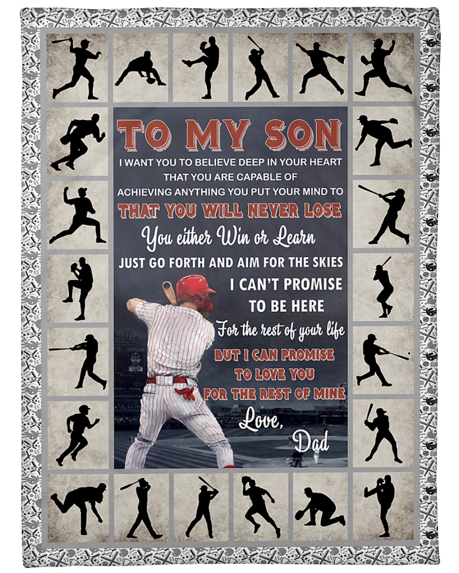 "Baseball Funny You Will Never Lose Graphic Design Large Fleece Blanket - 60"" x 80"""