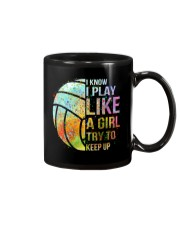 I Know I Play Volleyball Like A Girl Mug thumbnail