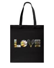 Tennis Sunflower Love Tote Bag thumbnail