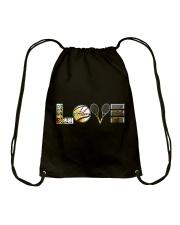 Tennis Sunflower Love Drawstring Bag thumbnail