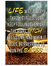 Baseball - Life Will Always Throw Curves 11x17 Poster front