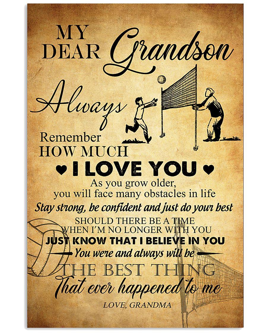 Volleyball Dear My Grandson 11x17 Poster