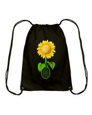 Tennis Sunflower Drawstring Bag thumbnail