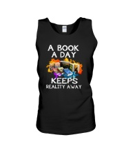 A book A day keeps reality away Unisex Tank thumbnail