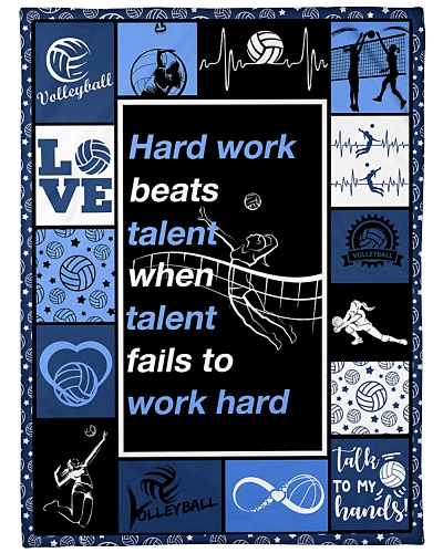 Volleyball Hard Work Beats Talent Graphic Design