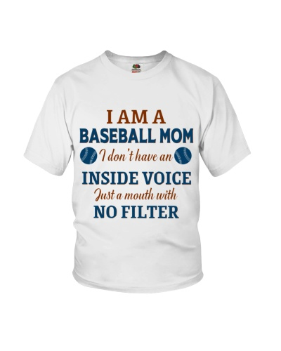 Baseball Mom I Dont Have An Inside Voice