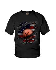 Basketball USA Flag Youth T-Shirt thumbnail