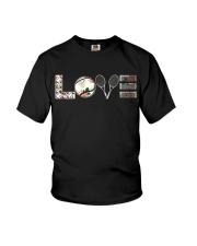 Tennis Love Flower Youth T-Shirt thumbnail