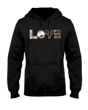 Tennis Love Flower Hooded Sweatshirt thumbnail