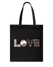 Tennis Love Flower Tote Bag thumbnail