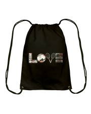 Tennis Love Flower Drawstring Bag thumbnail