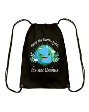 Keep The Earth Clean  Drawstring Bag thumbnail