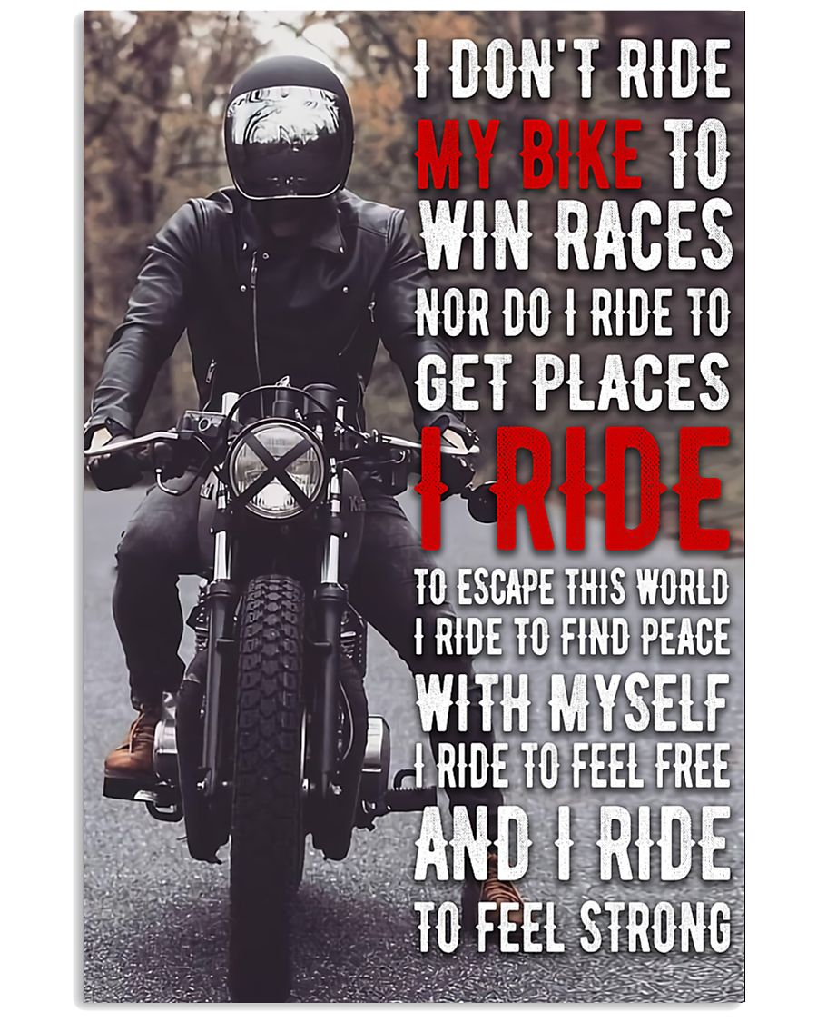 Motorcycle Feeling Strong 11x17 Poster