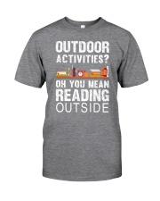 Book Outdoor Activities Classic T-Shirt front