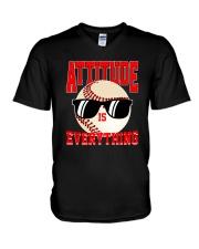 Baseball - Attitude V-Neck T-Shirt thumbnail