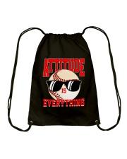 Baseball - Attitude Drawstring Bag thumbnail