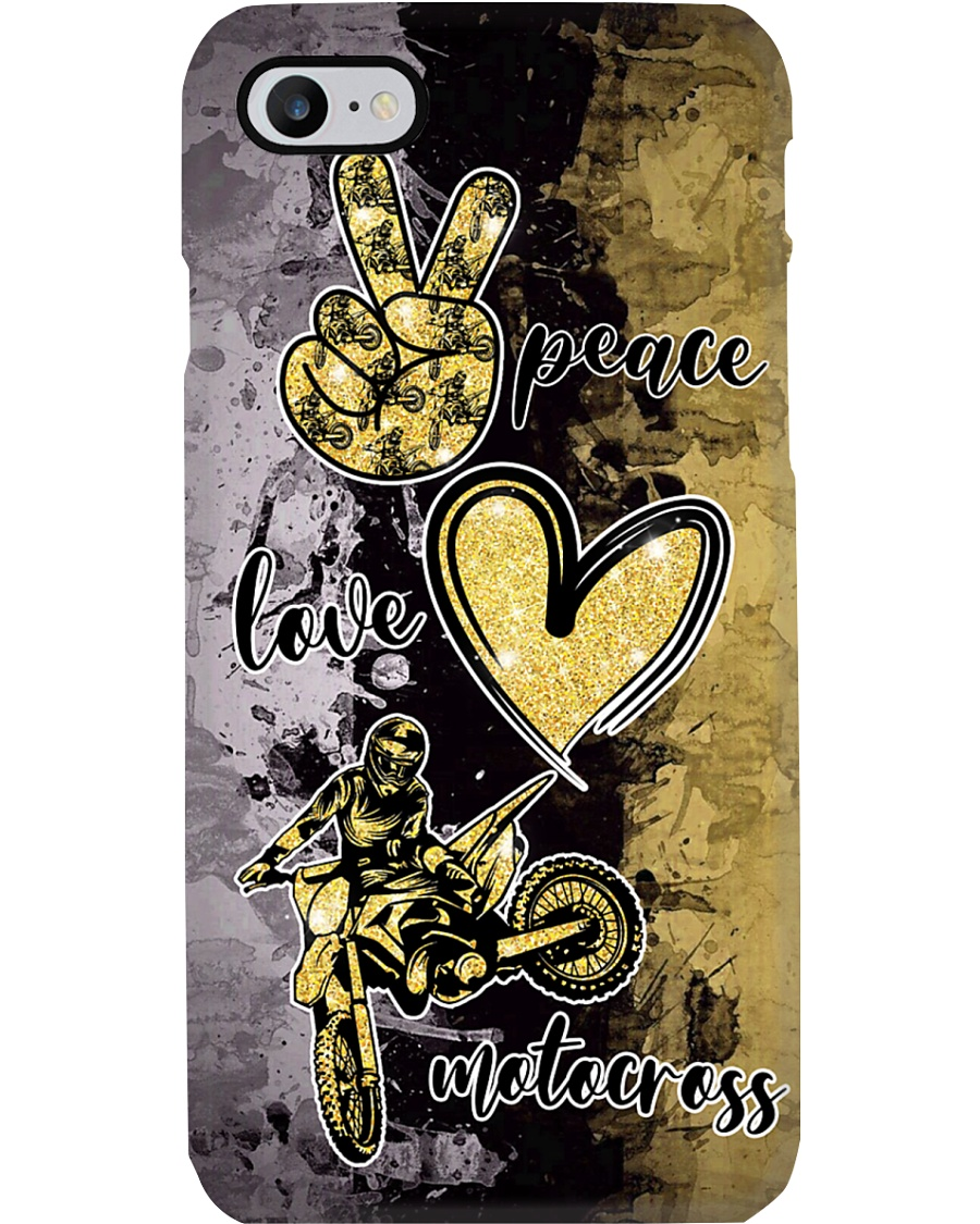 Motocross- Peace -Love- Phone case Phone Case