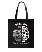 Basketball In My Head Tote Bag thumbnail