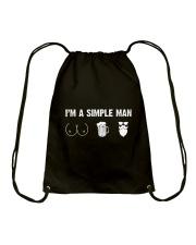 Beard- I'm a simple man Drawstring Bag thumbnail