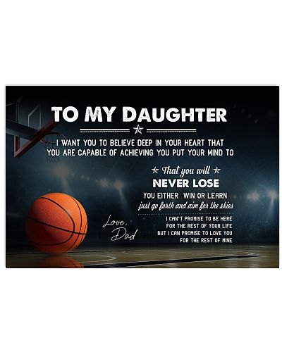 Basketball Daughter-Dad I Want You Believe Poste