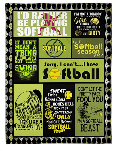 Softball I'd Rather Be Playing Graphic Design