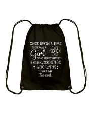 There Was A Girl Needed Science Drawstring Bag thumbnail