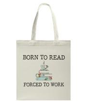 Books Born To Read Tote Bag front