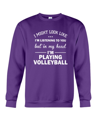 I'm playing volleyball