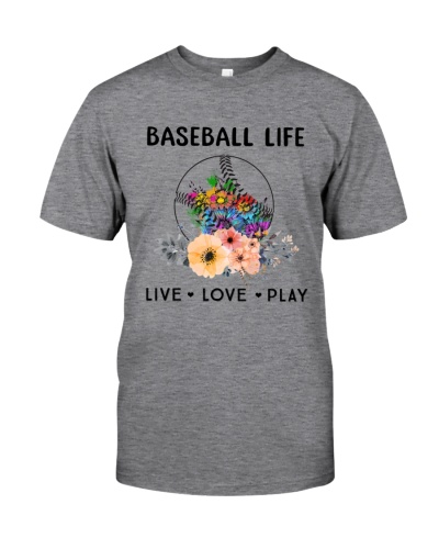 Baseball Life Live Love Play