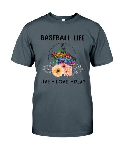 Baseball Life Live Love Play
