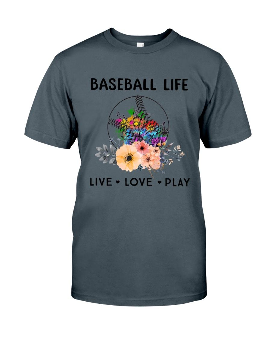 Baseball Life Live Love Play Classic T-Shirt