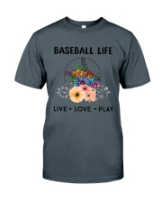Baseball Life Live Love Play Classic T-Shirt front