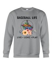 Baseball Life Live Love Play Crewneck Sweatshirt thumbnail