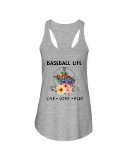Baseball Life Live Love Play Ladies Flowy Tank thumbnail
