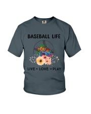 Baseball Life Live Love Play Youth T-Shirt thumbnail
