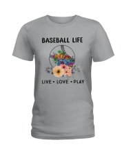 Baseball Life Live Love Play Ladies T-Shirt thumbnail