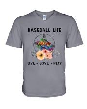 Baseball Life Live Love Play V-Neck T-Shirt thumbnail